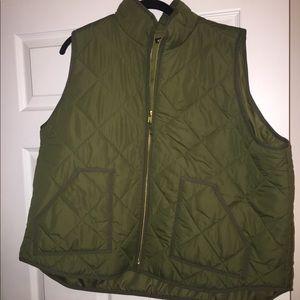 NWT 3X j crew factory vest, olive